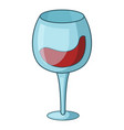 red wine goblet icon cartoon style vector image