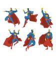 Superhero silhouettes character set vector image