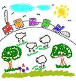 children drawing vector image