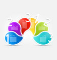 colorful paper shapes infographic layout with vector image