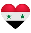 Syria Flag Heart Syrian flag icon in shape of vector image