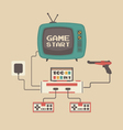 277old game player set vector image vector image