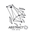 3d polygonal geometric faceted object abstract
