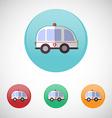 Ambulance car icon set vector image vector image