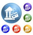 bank phishing icons set vector image