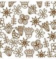 beautiful flower pattern drawing isolated vector image