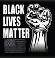 black lives matter drawing hand 4 vector image