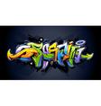 Bright graffiti lettering vector image vector image