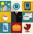 Business set of generic icons vector image vector image