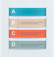 business-step tab alphabetic banners vector image