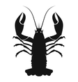Cancer black icon vector image