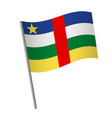central african republic flag icon vector image vector image
