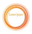 circle orange gradient abstract banner template vector image