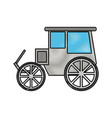 classic horse carriage vector image vector image