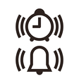 Clock and alarm icon