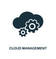 cloud management icon monochrome style design vector image vector image
