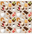 coffee and sweets seamless background vector image