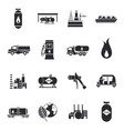 compressed and liquid natural gas icons vector image
