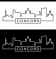concord new hampshire skyline linear style vector image vector image