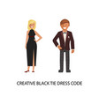 creative black tie dress code vector image