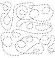 dash stroke line vector image