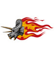 dinosaurus triceratops head art vector image vector image