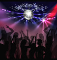 disco party dancefloor vector image vector image