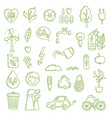 ecologic doodle green energy concept pictures vector image vector image