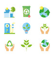ecology renewable environment recycle icons vector image vector image