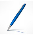 expensive blue tilt pen vector image vector image