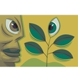 face and plant vector image vector image