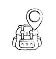 figure backpack travel with location symbol design vector image vector image