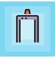 flat pmetal detector frame icon vector image