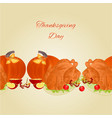 food border seamless background with thanksgiving vector image vector image