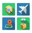 Four different icons in a flat style vector image vector image