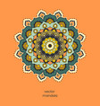 hand drawn colorful floral mandala vector image