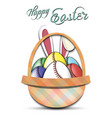 happy easter baseball balls in form eggs vector image vector image