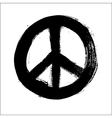Isolated hand drawn peace symbol brush style vector image vector image