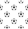 leather soccer ball pattern seamless vector image vector image