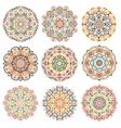 Mandalas Design Elements Colorful vector image vector image