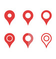 Mapping pins icon set map pointer signs
