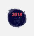 march 2018 calendar templates vector image