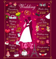 plan wedding costs hugging bride and groom vector image