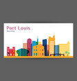 port louis city architecture silhouette vector image vector image