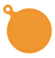 round wooden pizza serving board flat icon vector image vector image