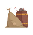 sack and barrel vector image
