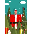 Santa with Gifts and Presents in Woods vector image vector image