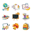 School And Eduction Related Sets Of Objects vector image vector image