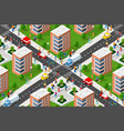 seamless urban plan pattern map vector image vector image