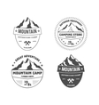 Set of monochrome outdoor adventure and mountain vector image vector image